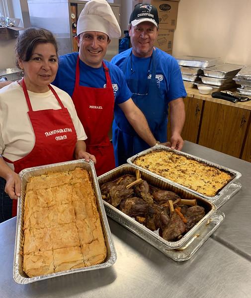 Chefs Lisa Koukos, Mike Fokas and Angelo Koukos, all of Lowell