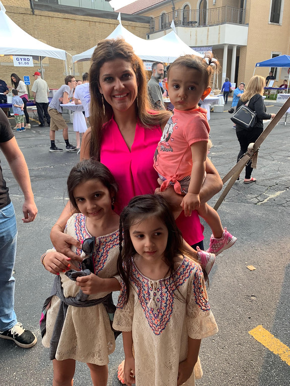 . Georgia Cocalis of Lowell and her adorable daughters
