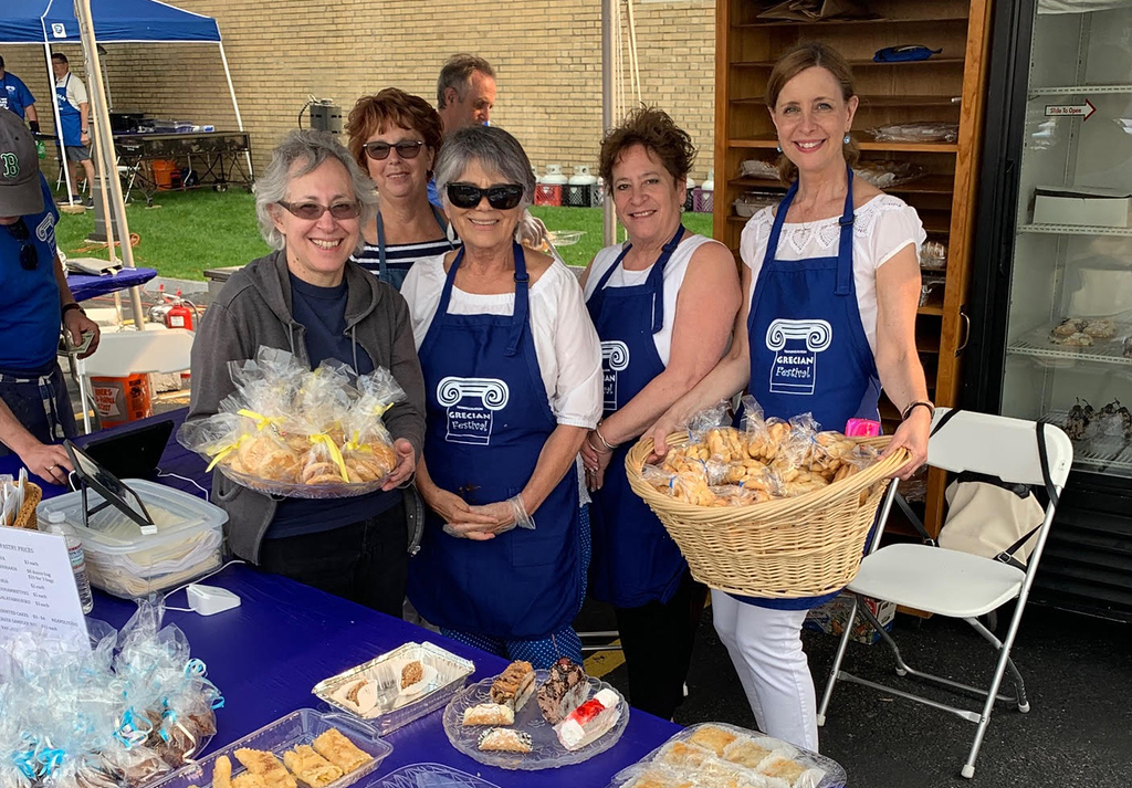 . The Ladies Philoptochos Society serves up delicious traditional Greek pastries.