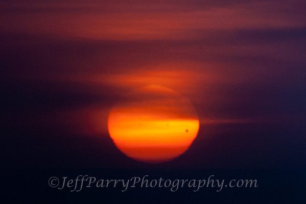 Transit of Venus Sunset from Pigeon Point, California
