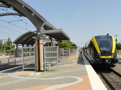 A Train at Trinity Mills interchange station.
