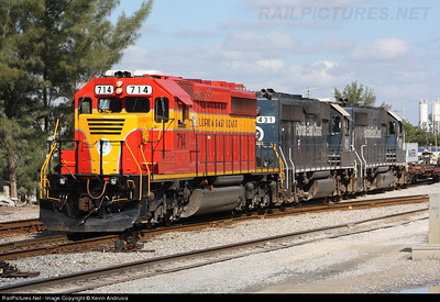 Did the Florida East Coast wink and signal it's intentions when it recently rolled out locomotive 714 in the passenger train colors of 1955?