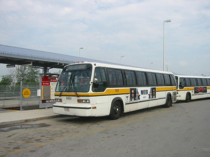 MBTA RTS #8522 at Newburyport on 6/28/02
