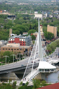 ESPLANDE-RIEL BRIDGE, WINNIPEG, CANADA