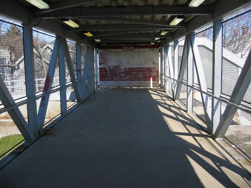 A walkway at Ashmont