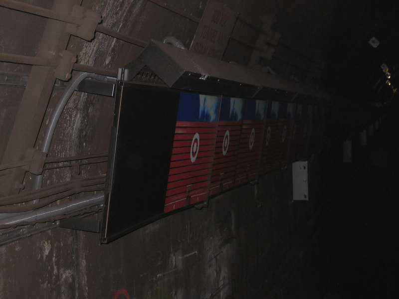 The motion ad near Broadway.