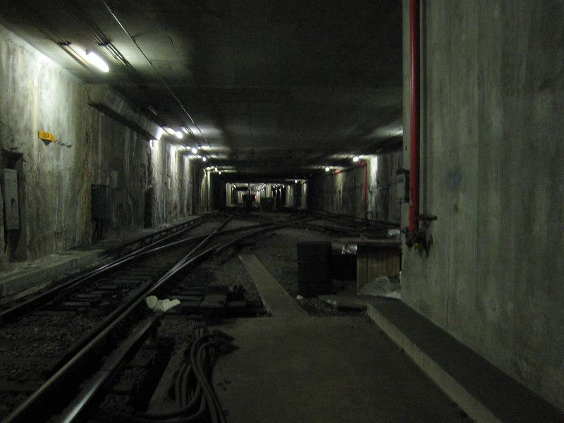 The yard beyond Alewife Station.