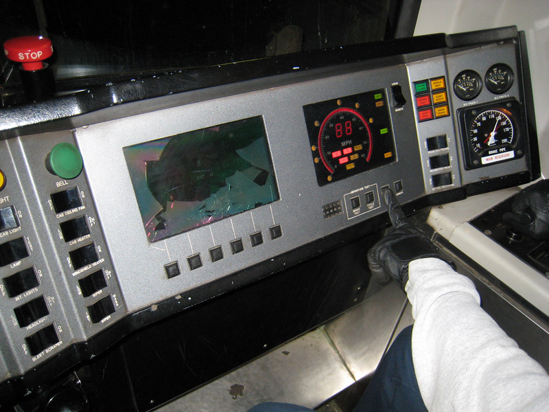 A broken display on an 01800 series car.
