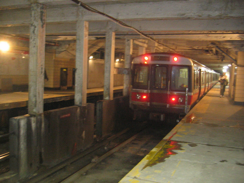 Shawmut Station inbound side.