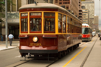 In Jacksonville the original proposal in 1980 was for a historic, vintage streetcar line. It was explained to the city that new streetcars could use the same system at a future date. The idea was mocked and JCCI told the city that the streetcars 'must' operate in a street, that they are slow and outdated. Of course it was a set up deal, the Skyway was going to be free.