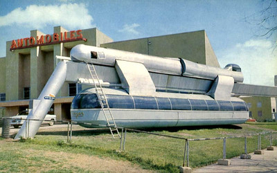This pilot monorail line, organized by Monorail Inc., made its debut (albeit two hours late because of a mechanical holdup) on Feb. 18, 1956, at Arrowhead Park near Old Spanish Trail and Main.  A Houston Chronicle article from that day said the 55-passenger coach made three trips at speeds not over 10 mph.  Reaction to the trip was varied. The most general comment was that it was interesting and had possibilities, but more investigation into the costs is needed. Supported by 18 standards shaped like an inverted J, the project is the $100,000 pilot model of a system designed to provide express service for commuters. Some people refer to the monorail as Trailblazer. According to an earlier Chronicle article, that name refers to the monorail coach. The name Skyway refers to the 1,600-foot monorail line.