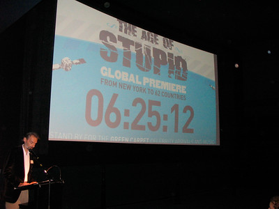 """Presentien the Climate Film """"The Age of Stupid"""""""