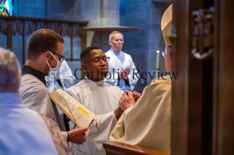 Transitional Diaconate Ordination at the Cathedral of Mary Our Queen in Homeland May 15, 2021. (Kevin J. Parks/CR Staff)