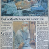 Transplant is dream come true, Detroit News, September 28, 1986