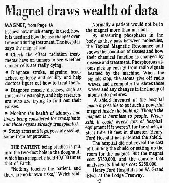 Detroit Free Press: Magnet draws wealth of data