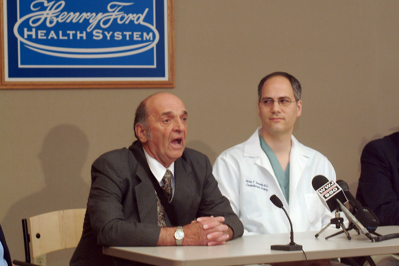 Press conference promoting 20th anniversary of heart transplant program<br /> Participants Dr. Alvise Bernabei, 2 patients 20 year recipients of a heart transplant