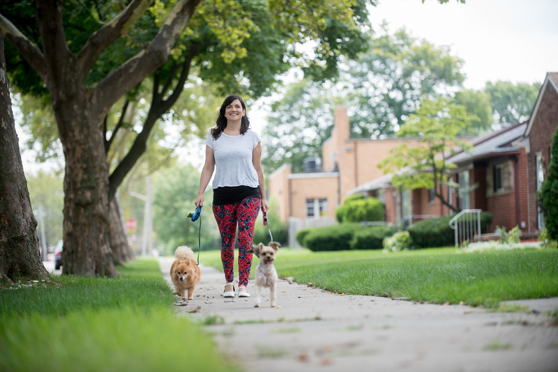 Lifestyle photos of Liver Transplant recipient Laura Rock at her Oak Park home.