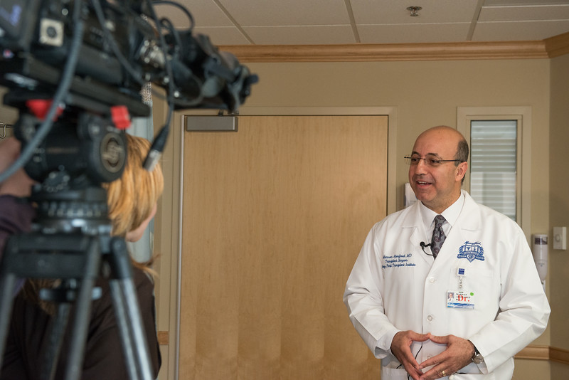 The first heart-liver transplant in metro-detroit.  WXYZ 7 covered the story, interviewing the patient and Dr. Abouljoud. March 2015 <br /> Marwan Abouljoud, Karen Haines,