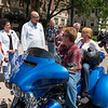 """Welcome Home"" press event for transplant patient Ronald Wilmoth and his wife Becky. His injuries resulted in a double lung transplant  and his wife. His transplant was after he was hit by a tire that came over the median and almost killed him riding his motorcycle on I-94 in 2016. Now he's returning from a cross-country trip on his 3-wheeled motorcycle, celebrated and welcomed by Transplant Institute staff"