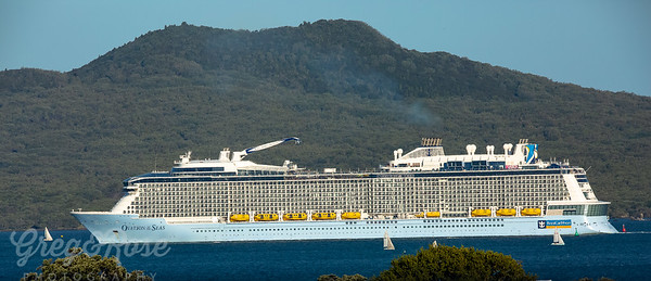 Ovation of the Seas leaving Auckland NZ