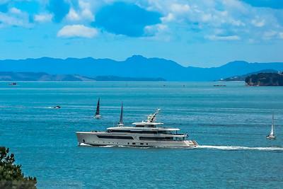 One of the Many Luxury Boats based at Westhaven Marini