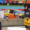 Joey Logano Nationwide Car just before race during Sprint Cup practice.