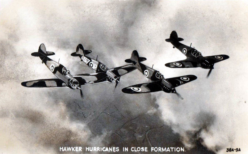 A formation of Hurricanes.
