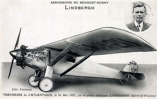 Lindbergh's aircraft, the Spirit of St Louis.