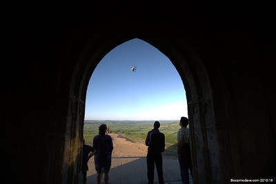 Drone at Glastonbury Tor 002