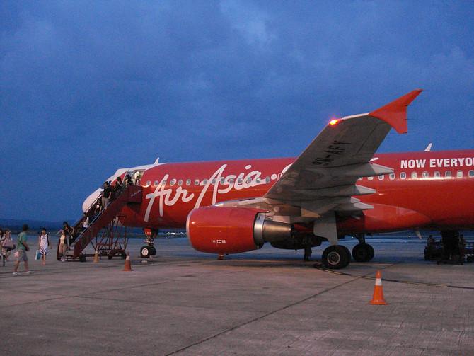 Air Asia at Johor Bahru Airport