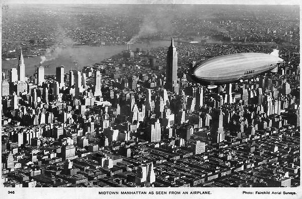 A Dirigible over Manhattan.