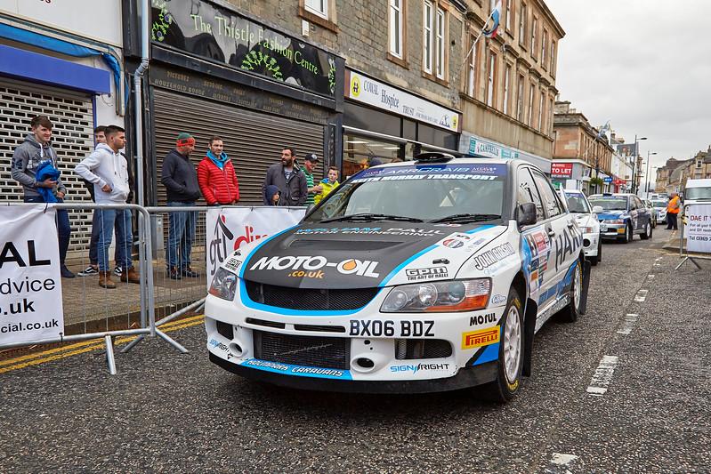 MitsubishiLancer Evo IX at the Argyll Rally at Dunoon - 24 June 2017