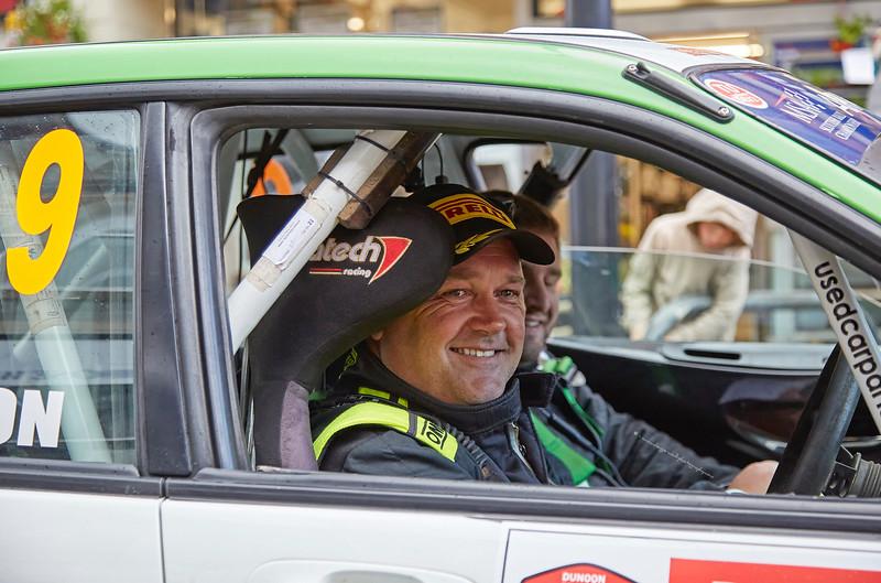 Iain Wilson with Car 9 at the  Argyll Rally - 24 June 2017