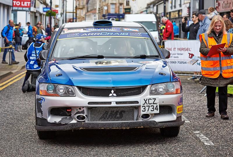 MitsubishiEvo 9 at the Argyll Rally at Dunoon - 24 June 2017