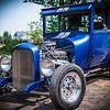 Old blue sport car