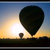 Ballooning at sunrise on the banks of the Nile.