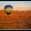 Ballooning at sunrise over Hatshepsut's Temple on the West Bank of the Nile