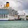 Carnival Cruises Costa Liminosa, Seabourn Cruises Seabourn Spirit, St. John's Harbour, Antigua