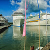 Holland America Line Prinsendam, Carnival Cruises Costa Mediterranea, and Royal Caribbean Adventure of the Seas, St. John's Harbour, Antigua
