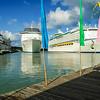 Holland America Line Prinsendam, Carnival Cruises Costa Mediterranea, and Royal Caribbean Adventure of the Seas, St. John's Harbour, Antigua
