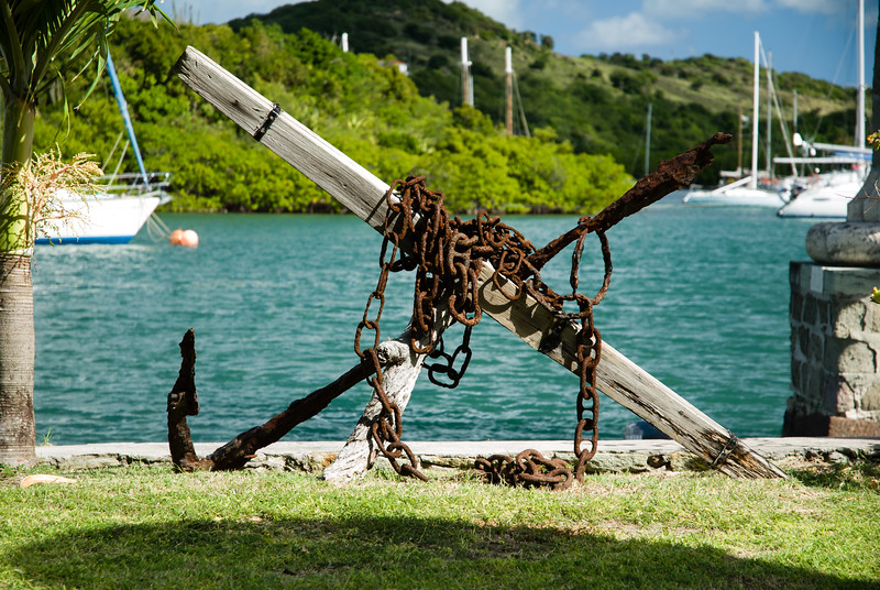 Anchor & Chain in Garden of Admiral's Inn Hotel. Nelson's Dockyard, English Harbour, Antigua