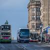 A bus-y street in Edinburgh