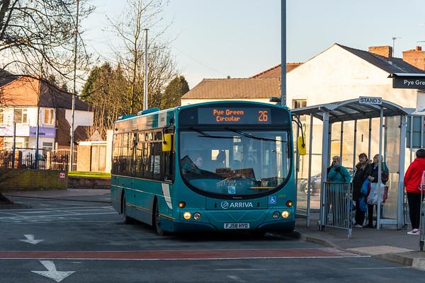 Arriva Midlands Wright Eclipse Urban FJ58HYO 3905, Cannock Bus Station