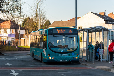 Arriva Midlands Wright Eclipse Urban FJ58HYO 3905, Cannock Bus Station