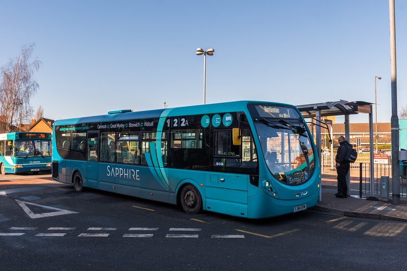 Arriva Midlands Wright Streetlite FJ64EVM 3309, Cannock Bus Station