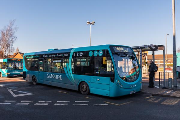 Arriva Midlands Wright Streetlite FJ64EVM 3309, Cannock Bus Station
