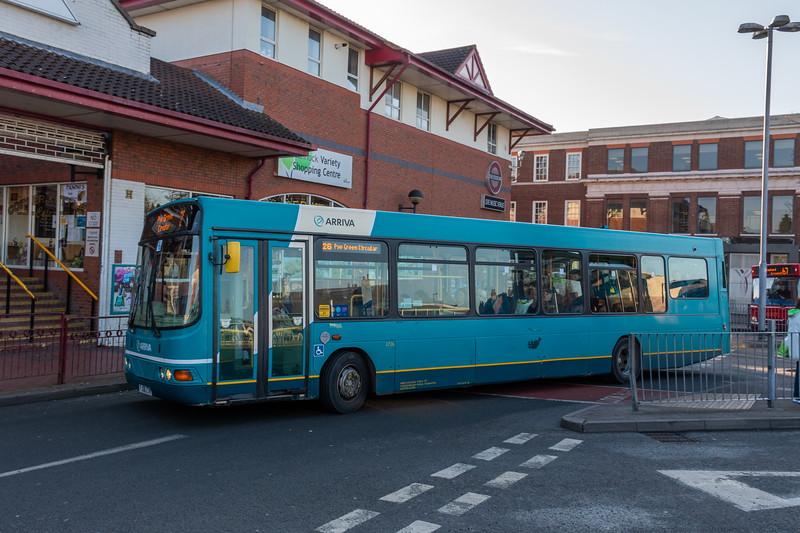 Arriva Midlands Wright Commander FJ06ZTN, 3726, Cannock Bus Station