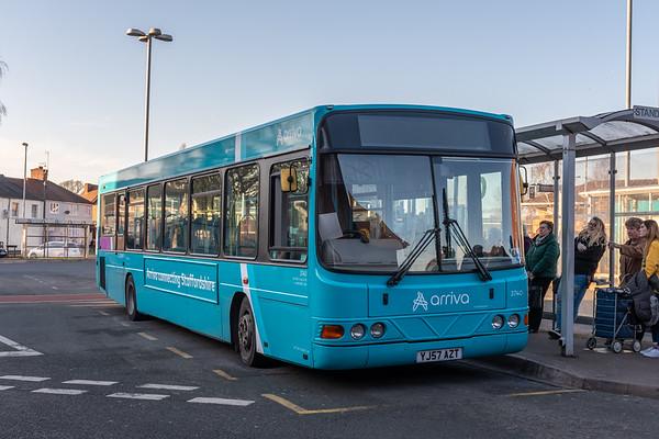Arriva Midlands Wright Commander YJ57AZT 3740, Cannock Bus Station