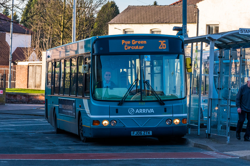 Arriva Midlands Wright Commander 3723 FJ06ZTK, Cannock Bus Station