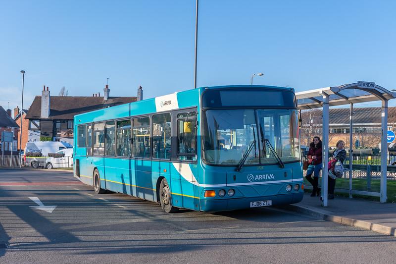 Arriva Midlands Wright Commander FJ06ZTL 3724, Cannock Bus Station